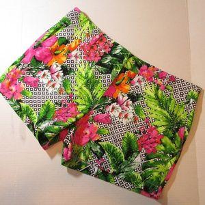 CYNTHIA ROWLEY size 12 tropical print shorts